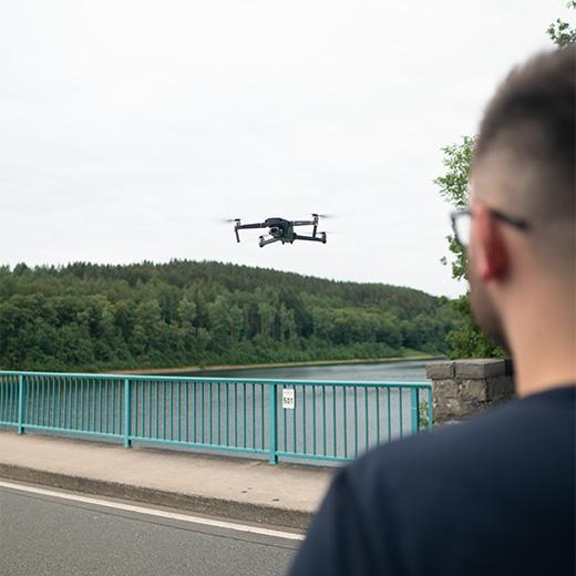 Drohnenflug gesteuert von Dominik Scheffke